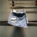 skirt Summer of 2019 S,M,L,XL,2XL Picture color Short skirt Versatile High waist Denim skirt Solid color Type A Denim cotton Pockets, buttons, stitching