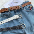 Belt / belt / chain Pu (artificial leather) Black, white, brown currency belt Versatile Single loop Pin buckle soft surface 2.5cm alloy Heavy line decoration Other / other