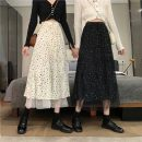skirt Spring 2021 S recommendation 75 - 90 Jin , M recommendation 91 - 100 Jin , L recommendation 101 - 120 Jin , XL recommendation 121 - 130 Jin Apricot, black Mid length dress High waist A-line skirt Other / other fold , printing , Lace