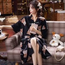 Pajamas / housewear set female Hodo / red bean M, l, XL, XXL, XXL JYE#8808,JYR#8809,JYR#,JYR#8811,JYR#8812,JYR#8813,JYR#8801,JYR#8802,JYR#8803,JYR#8804,JYR#8805,JYR#8806,JYR#8807 cotton Short sleeve Cartoon pajamas summer Crew neck Cartoon animation youth 2 pieces 61% (inclusive) - 80% (inclusive)
