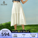 skirt Spring 2021 155/XS 160/S 165/M 170/L Ivory (39) Ivory Mid length dress Sweet Natural waist Fluffy skirt Solid color Type A 25-29 years old EEWHB24W3M More than 95% E·LAND cotton fold Cotton 100% Same model in shopping mall (sold online and offline) Ruili