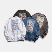 Sweater Youth fashion Others Black, white, dark gray, blue M,L,XL,2XL Animal design Socket routine Crew neck spring easy leisure time teenagers tide routine 1WY139 Cotton 52.4% polyester 47.6% cotton printing 50% (inclusive) - 69% (inclusive)