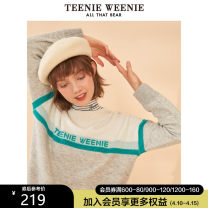 sweater Winter of 2019 160/S 165/M 170/L Color contrast Long sleeves Socket singleton  Regular other 95% and above Crew neck Regular commute routine other Straight cylinder Regular wool 18-24 years old Teenie Weenie Other 100% Same model in shopping mall (sold online and offline)