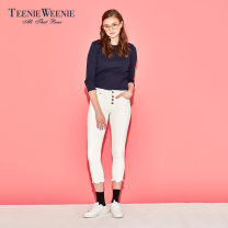 Jeans Summer 2017 ivory 155/XS 160/S 165/M 170/L trousers Natural waist Pencil pants 18-24 years old light colour TTTJ72694Q1 Teenie Weenie Cotton 98% polyurethane elastic fiber (spandex) 2%