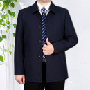 Jacket Other / other Business gentleman routine easy Other leisure spring Polyester 80% cotton 20% Long sleeves Wear out Lapel Business Casual middle age routine Single breasted 2018 Cloth hem No iron treatment Loose cuff Solid color Seldingham Button decoration Side seam pocket other