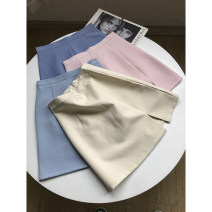 skirt Summer 2021 Short skirt A-line skirt commute 30% and below Solid color Other / other High waist other 18-24 years old Type A FG417878 other S,M,L,XL Light blue skirt, apricot skirt, blue skirt, pink skirt