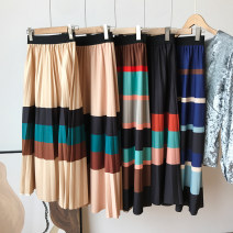 skirt Spring 2021 Average size Deep Khaki Skirt, royal blue skirt, Khaki Skirt, coffee skirt, black skirt Mid length dress commute High waist other Type A 18-24 years old FG711149 30% and below other other Korean version