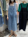 Dress Spring 2021 Light blue, black Average size Mid length dress singleton  Sleeveless commute One word collar High waist Solid color A-line skirt camisole 18-24 years old Type A Other / other Korean version Washing water 31% (inclusive) - 50% (inclusive) Denim Cellulose acetate