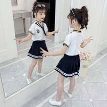 suit Becosin 110cm 120cm 130cm 140cm 150cm 160cm female summer college Long sleeve + skirt 2 pieces routine There are models in the real shooting Socket nothing Solid color other children Expression of love Class B Other 100% Summer 2021 Chinese Mainland Zhejiang Province Huzhou City