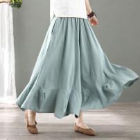 Casual pants Black, red, blue, beige Average size Summer 2020 Ninth pants Wide leg pants Natural waist commute Thin money 30-34 years old 51% (inclusive) - 70% (inclusive) SY-DBQK hemp Retro pocket hemp