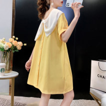 T-shirt Pitaya yellow black Average size Summer 2021 Short sleeve Doll Collar easy Medium length routine commute cotton 86% (inclusive) -95% (inclusive) 18-24 years old other Kaka town kkxz2021041103 Cotton 90% polyurethane elastic fiber (spandex) 10% Pure e-commerce (online only)