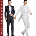Suit Business gentleman Others L,S,M,XL,2XL,3XL Baling collar Back middle slit Four seasons Self cultivation A double breasted button dance