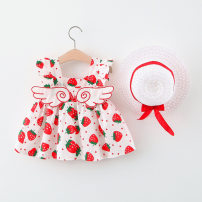 Dress female Other / other 73cm,80cm,85cm,90cm,100cm Cotton 95% other 5% summer Korean version Skirt / vest Broken flowers cotton A-line skirt 12 months, 6 months, 9 months, 18 months, 2 years, 3 years, 4 years Chinese Mainland