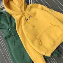 Sweater / sweater Winter 2020 S,M,L,XL,2XL,3XL Long sleeves routine Socket singleton  Plush Hood easy commute raglan sleeve letter 18-24 years old 96% and above Other / other polyester fiber polyester fiber Cotton liner