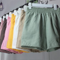 Casual pants Summer 2021 shorts Wide leg pants High waist commute Thin money 25-29 years old 81% (inclusive) - 90% (inclusive) Walking in autumn other Korean version belt cotton