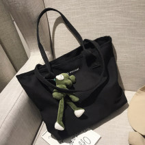 Bag The single shoulder bag canvas Tote Bag Meimeier brand new Japan and South Korea in leisure time soft zipper no Solid color Double root One shoulder hand nothing youth Shopping bag Soft handle polyester fiber