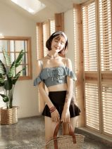 Split swimsuit heyswim Picture color S,M,L,XL Skirt split swimsuit With chest pad without steel support
