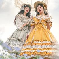 Lolita / soft girl / dress Cat romance S (OP short sleeve dress), m (OP short sleeve dress), l (OP short sleeve dress), XL (OP short sleeve dress), s (jsk sling flying sleeve dress), m (jsk sling flying sleeve dress), l (jsk sling flying sleeve dress), XL (jsk sling flying sleeve dress)