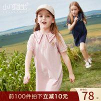 Dress Navy Pink female Xiaodingyou 120cm 130cm 140cm 150cm 160cm 165cm Cotton 96.6% polyurethane elastic fiber (spandex) 3.4% summer Korean version Short sleeve Cartoon animation cotton A-line skirt XD1Q24030 Class B Summer 2021 Chinese Mainland Zhejiang Province Huzhou City