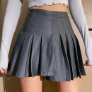 skirt Spring 2021 S,M,L Gray, black Short skirt street High waist A-line skirt Solid color Type A 25-29 years old 51% (inclusive) - 70% (inclusive) other other Europe and America