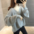 Wool knitwear Summer 2021 S M L XL Pink off white gray brown black blue Long sleeves singleton  Socket other More than 95% Regular Thin money commute easy V-neck routine Solid color Socket Korean version NN15827HT2X552075214 Nanu Hollowing out Other 100% Pure e-commerce (online only)
