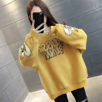 Sweater / sweater Spring 2021 Black green yellow S M L XL Long sleeves routine Socket singleton  routine Crew neck easy commute routine letter 96% and above Nanu Korean version other NN17203HT1985375647 Stitching printing thread Other 100% Exclusive payment of tmall