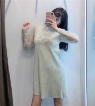 Dress Autumn 2020 Light green XS,S,M,L singleton  71% (inclusive) - 80% (inclusive) other