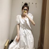 Dress Summer 2020 white XS,S,M,L singleton  51% (inclusive) - 70% (inclusive) other