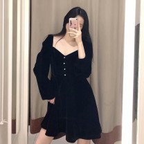 Dress Spring 2020 black XS,S,M,L singleton  51% (inclusive) - 70% (inclusive) other other