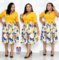 Dress Summer of 2019 Black, yellow, pink L,XL,2XL,3XL