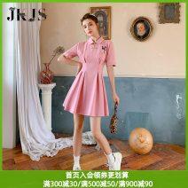 cheongsam Summer 2021 S M L XL Short sleeve Short cheongsam Retro Low slit daily Oblique lapel 25-35 years old Embroidery JK&JS cotton Cotton 95.5% polyurethane elastic fiber (spandex) 4.5% Pure e-commerce (online only)