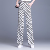 Casual pants White black M L XL 2XL 3XL 4XL Spring 2021 trousers Straight pants High waist commute routine 40-49 years old 81% (inclusive) - 90% (inclusive) OSYWWX9190 Osaya other Korean version pocket Polyester 93.6% other 6.4% Pure e-commerce (online only)
