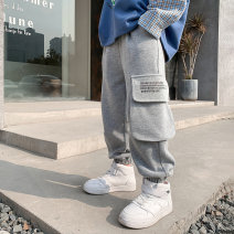 trousers Baby & HH / baby Hengheng male 100cm 110cm 120cm 130cm 140cm 150cm 160cm grey spring and autumn Ninth pants Korean version There are models in the real shooting Sports pants Leather belt middle-waisted other Don't open the crotch K211KZ022 Class B K211KZ022 Spring 2021 Chinese Mainland