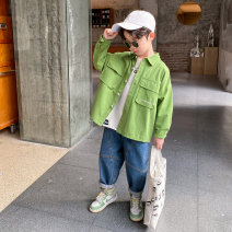 Plain coat Baby & HH / baby Hengheng male 100cm 110cm 120cm 130cm 140cm 150cm 160cm Green off white spring and autumn Korean version Zipper shirt There are models in the real shooting routine No detachable cap Cartoon animation cotton V-neck K201WT553-1 Cotton 60.6% polyester 30.4% others 9% Class C