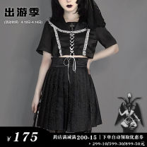 student uniforms Summer 2020 [dark feast] sailor's jacket, [dark feast] half skirt with dark pattern and buckle S,M,L,XL Other / other polyester fiber