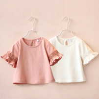 T-shirt White, pink Other / other 90cm,100cm,110cm,120cm,130cm,140cm female princess No model nothing other other tx7451 Class B 2, 3, 4, 5, 6, 7, 8, 9, 10, 11, 12, 13, 14 years old