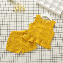 suit Other / other yellow 7(90cm),9(100cm),11(110cm),13(120cm),15(130cm) summer leisure time Sleeveless + pants 2 pieces nothing F8159 2 years old, 3 years old, 4 years old, 5 years old, 6 years old