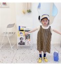 Dress Yellow check, rice apricot bottom shirt female 0-3 80cm,90cm,100cm,110cm,120cm,130cm Cotton 100% summer princess Short sleeve other Pure cotton (100% cotton content) A-line skirt Class A Three years old, 18 months old, 5 years old, 12 months old, 2 years old, 11 years old, 4 years old