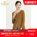 Windbreaker Autumn 2020 S M L XL XXL Light brown Long sleeves routine Medium length commute other Crew neck routine Solid color Straight cylinder Simplicity Gowani / Giovanni E151A465 40-49 years old pocket 51% (inclusive) - 70% (inclusive) polyester fiber polyester fiber