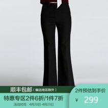 Casual pants black S M L XL Winter 2017 trousers Wide leg pants Natural waist commute routine 35-39 years old EL4F582501 Gowani / Giovanni Polyester fiber 94.7% polyurethane elastic fiber (spandex) 5.3%