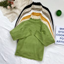 Wool knitwear Winter 2020 Average size black , white , yellow , Apricot , green , Shallow card , Khaki Long sleeves singleton  Socket other 51% (inclusive) - 70% (inclusive) Regular routine commute Self cultivation routine Solid color Socket 18-24 years old