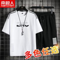 Leisure sports suit summer M L XL 2XL 3XL 4XL Short sleeve NGGGN shorts youth T-shirt cotton Summer 2021 cotton