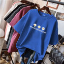 T-shirt M,L,XL,2XL,3XL,4XL,5XL Summer 2020 Short sleeve Crew neck easy Regular routine commute cotton 96% and above 18-24 years old Korean version originality Cartoon animation, animal patterns, letters, flowers, solid color