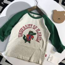 T-shirt Other / other male leisure time cotton Cartoon animation Cotton 100% 12 months, 18 months, 2 years old, 3 years old, 4 years old, 5 years old
