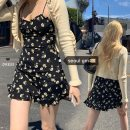 Dress Summer 2020 black S,M,L Short skirt singleton  Sleeveless commute Decor Retro Ruffle, print