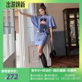 cheongsam Summer 2020 XXL,XXXL,L,XL blue Short sleeve No slits daily Semicircle lapel character 18-25 years old JKZ9121323 96% and above