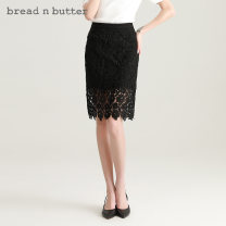 skirt Spring 2021 160XS 165S 170M 175L black Mid length dress Sweet High waist A-line skirt Solid color Type A 25-29 years old More than 95% Lace bread n butter polyester fiber Lace Polyester 100% Same model in shopping mall (sold online and offline) Ruili