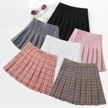 skirt Plaid Pleated Skirt Pink Plaid pleated skirt gray pure color Pleated Skirt Pink Pure Color pleated skirt white pure color pleated skirt black pure color pleated skirt gray pure color pleated skirt Navy optional two [message color size] Plaid pleated skirt red plaid pleated skirt black female