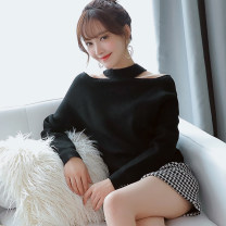 Wool knitwear Autumn 2020 S,M,L,XL Apricot, pink, red, yellow, black, white, Avocado Green, elegant black, bright red, pure white Long sleeves singleton  Socket other 31% (inclusive) - 50% (inclusive) Regular routine Solid color Socket