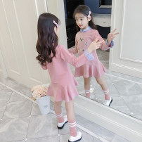 Dress Navy, pink, hooded pink, hooded yellow female Other / other 110cm,120cm,130cm,140cm,150cm,160cm Cotton 95% other 5% spring and autumn Korean version Long sleeves Solid color cotton Lotus leaf edge 105 dress Class B Three, four, five, six, seven, eight, nine, ten, eleven, twelve